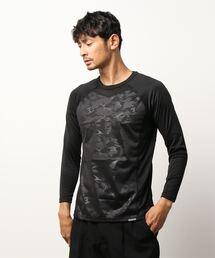 OUTDOOR PRODUCTS×BREEZETEX HYPER クルーネックロングTシャツ 防風透湿 衣服内温度+5℃スミクロ
