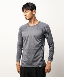 OUTDOOR PRODUCTS×BREEZETEX HYPER クルーネックロングTシャツ 防風透湿 衣服内温度+5℃チャコールグレー