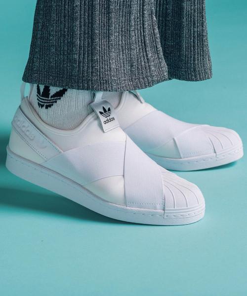 fe06ea7a5edaf9 adidas(アディダス)の「スーパースタースリッポン[Superstar Slip On W] アディダス