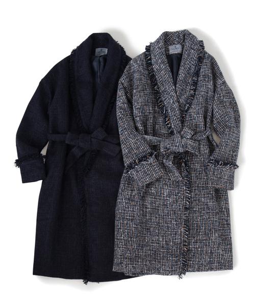 Hythe tweed coat