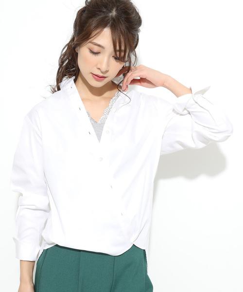 MAKER'S SHIRT KAMAKURA(メーカーズシャツカマクラ)の「【鎌倉シャツ×ViS】【2WAY】スタンダードシャツ(シャツ/ブラウス)」 ホワイト