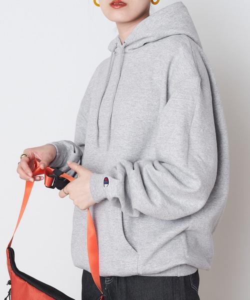 【Champion】レディース チャンピオン HOODED 裏起毛 フード付き スーパーオーバー パーカー/プルオーバー/ビックシルエット