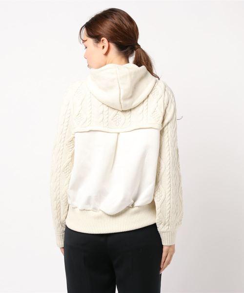 Re.Verofonna(ヴェロフォンナ)の「柄編み切替フーディー(ニット/セーター)」 詳細画像