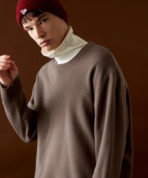 オーバーサイズ畦クルーネックニットプルオーバー (EMMA CLOTHES)ブラウン系その他