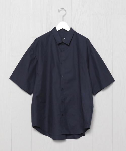 <ATON>OVER SHORT SLEEVE SHIRT/シャツ.