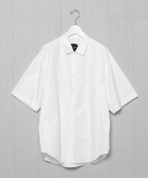 <ATON>OVER SHORT SLEEVE SHIRT/シャツ.