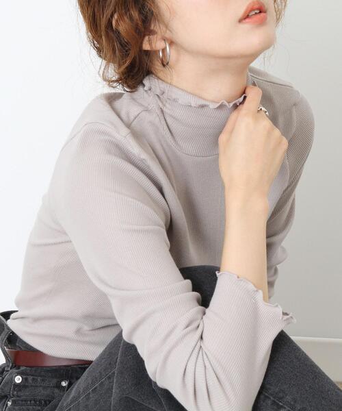 【WEB限定カラー】コットンメロウタートルネックカットソー(ハイネック)