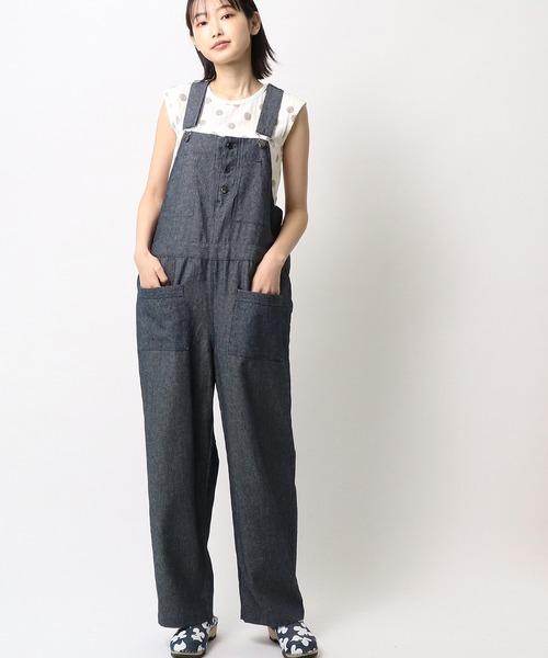 【 ubasoku / ウバソク 】前ポケット デニム オーバーオール BNT ub0170