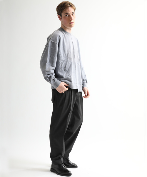 【DIET BUTCHER SLIM SKIN】STUDIOUS限定別注ガーメントダイビッグシルエットスウェットシャツ