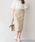Pierrot(ピエロ)の「綿麻タイトスカート/リネンスカート(スカート)」|ライトベージュ