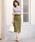 Pierrot(ピエロ)の「綿麻タイトスカート/リネンスカート(スカート)」|詳細画像