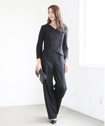 DRESS LAB(ドレスラボ)の3タックジャケットセットアップフォーマルパンツスーツ【2点セット】(セットアップ)