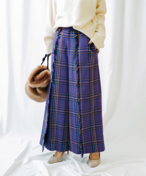 【売り切り御免!】 チェックラップワイドパンツ(パンツ)|Re.Verofonna(ヴェロフォンナ)のファッション通販, BUSINESS&CASUALSHOES LONGPSHOE:80af5e66 --- bebdimoramungia.it
