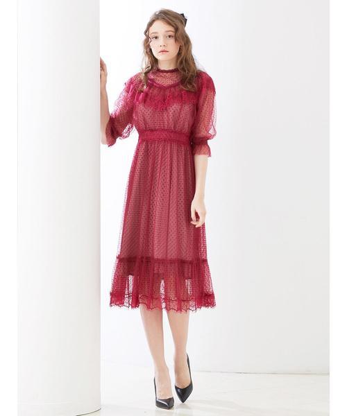 【★大感謝セール】 ドットチュールロングワンピ(ワンピース)|Honey Salon(ハニーサロン)のファッション通販, リッチパウダー:5de6d4f9 --- blog.buypower.ng
