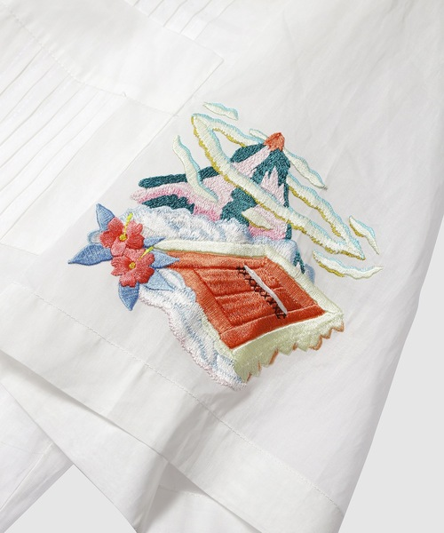 Casablanca(カサブランカ)の「Cuban Rainbow Hand Embroidered Shirt(シャツ/ブラウス)」 詳細画像