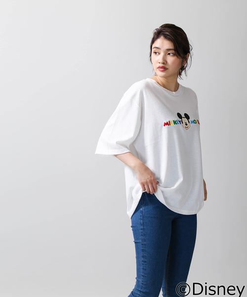 ∴WEGO/Disney/MICKEY MOUSE ロゴTシャツ