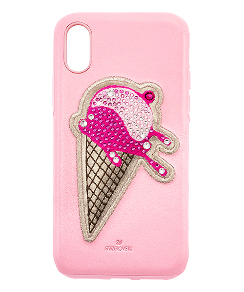 SWAROVSKI(スワロフスキー)の「No Regrets Ice Cream Smartphone ケース(カバー付き)(モバイルケース/カバー)」|ピンク