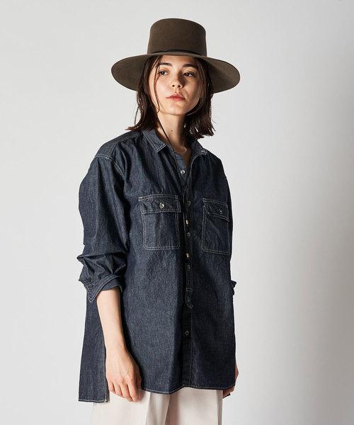 激安店舗 ダンガリーシャツ(シャツ/ブラウス) Whim|Whim Gazette(ウィムガゼット)のファッション通販, アケノマチ:844debe1 --- 888tattoo.eu.org