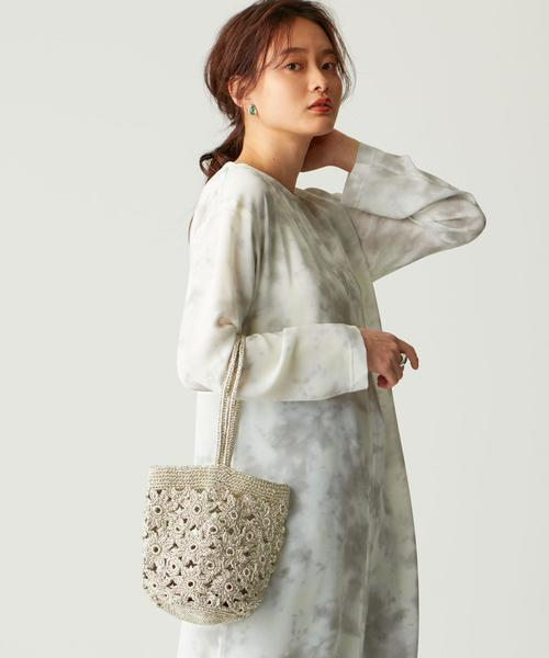 【WEB限定】ne Quittez pas(ヌキテパ)ポーチ付き 編みバッグ