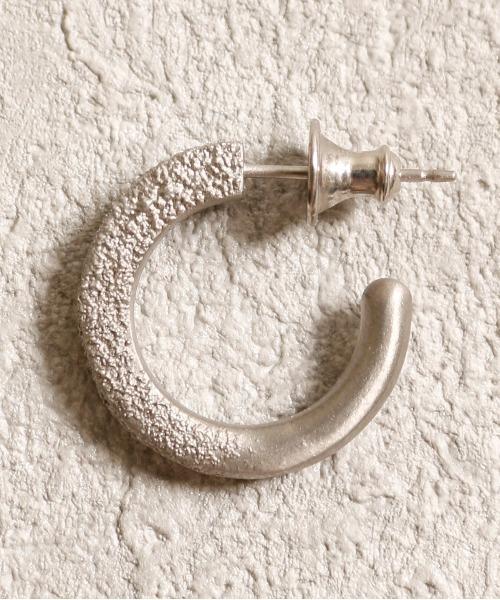 GILD / ギルド / Sand texture morphing large pierce サンド テクスチャー モーフィング ラージ ピアス / G201-PC01
