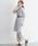 Pierrot(ピエロ)の「後ろリボンストライプ ロングシャツワンピース(シャツワンピース)」|詳細画像