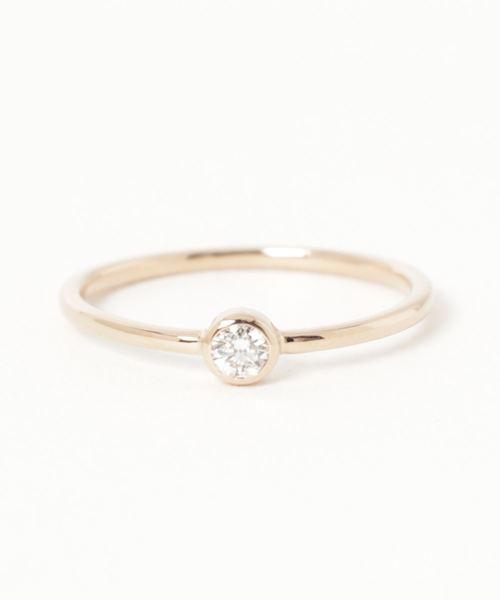 【新品】 K18 ダイヤモンド 0.1ct リング「ブライト」, どくだみ健草館 e33adbfb