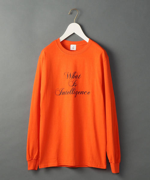<6(ROKU)>WHAT IS INTELLIGENCE LONG SLLEVE T-SHIRT/Tシャツ