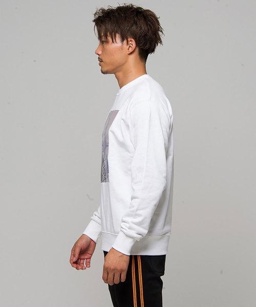 裏毛ガールズフォトオーロラプリントクルーネックトレーナー / CAKK18-06