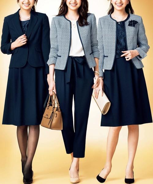 GeeRA(ジーラ)の「うれしい3種の機能付着まわし5点スーツ(セットアップ)」|ネイビー