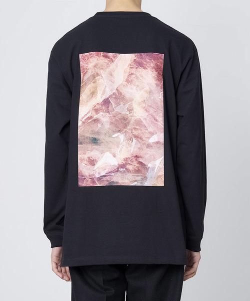 JUHA(ユハ)の「'TEXTURE' PRINT T-SHIRT(Tシャツ/カットソー)」|ブラック