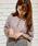 apres jour(アプレジュール)の「ヘンリーネックワッフルトップス【ZOZOTOWN限定アイテム】(Tシャツ/カットソー)」|ラベンダー