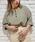 apres jour(アプレジュール)の「ヘンリーネックワッフルトップス【ZOZOTOWN限定アイテム】(Tシャツ/カットソー)」|カーキ