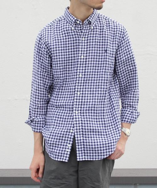 GYMPHLEX / ジムフレックス LINEN CLOTH BD SHIRTS リネンクロス