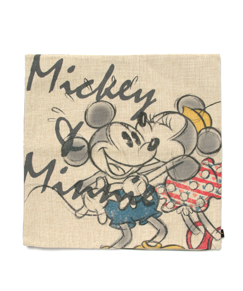 Disney Lifestyle Collection ディズニー 麻風クッションカバー ミッキー