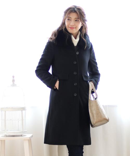 最適な材料 sankyoフォックス襟カシミヤコート(その他アウター)|sankyo shokai(サンキョウショウカイ)のファッション通販, 安佐南区:0961f1c6 --- munich-airport-memories.de