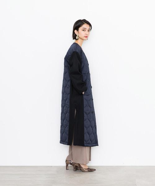 【STUDIOUS】キルティングミリタリーコート