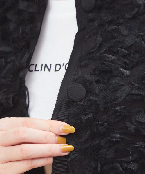 リボンツィードジャケット