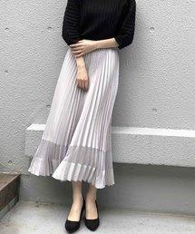 PICCIN(ピッチン)の裾シアーシフォン切り替えプリーツスカート(スカート)