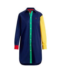 0034c8a914bd9 POLO RALPH LAUREN(ポロラルフローレン)の「カラーブロックド コットン ドレス(