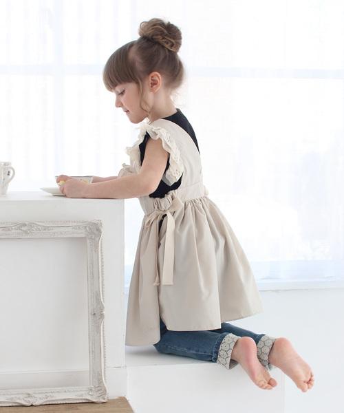 Rora コジー エプロン ドレス(2color)