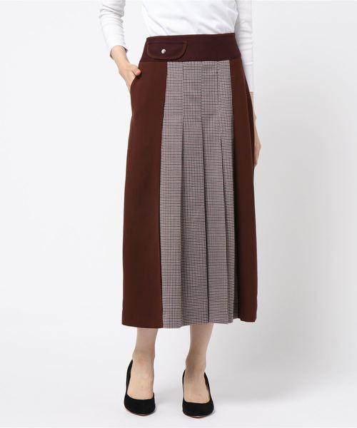 新品登場 チェックプリーツコンビスカート(スカート)|sophila(ソフィラ)のファッション通販, サカモトムラ:5955fcda --- dcripajk.gov.pk