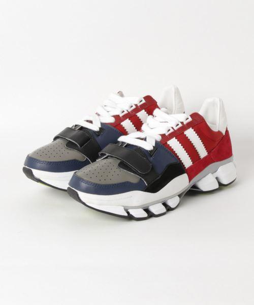 MAISON MIHARA YASUHIRO(メゾン ミハラヤスヒロ)の「【MAISON MIHARA YASUHIRO】マルチハイブリッドスニーカー/Multi Hybrid Sneaker(スニーカー)」|レッド