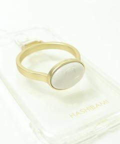 【 Hashibami / ハシバミ 】別注 iPhone 8/7/6/SE クリア スマホ・携帯カバー 天然石リング付きケース