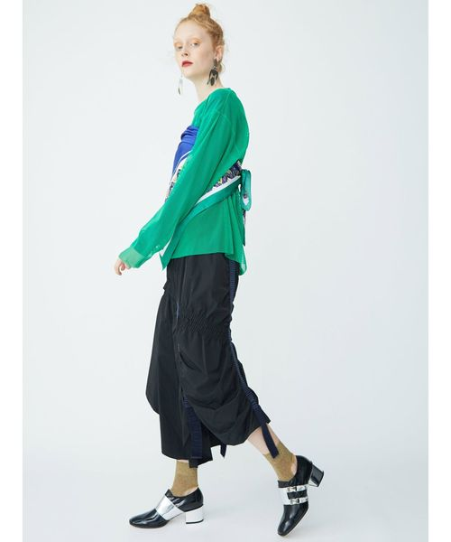 テープギャザースカート