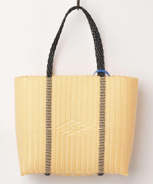 【Sibrian / シベリアン】 ハンドメイド ワイヤー 編み込み トート バッグ - Mサイズ / かごバッグ