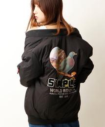 【STAPLE】ワッペン&バックプリント リバーシブル 迷彩 中綿ボンバージャケット MA-1(MA-1)