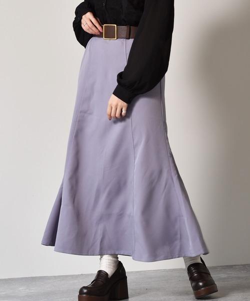 太ベルト付きマーメイドスカート
