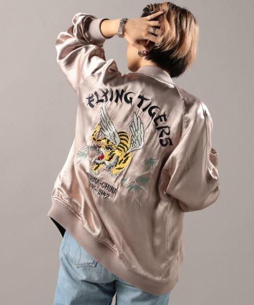 ソリッドボディー スカジャケット フライングタイガース/ SOLID BODY SUKA JACKET FLYING TIGERS