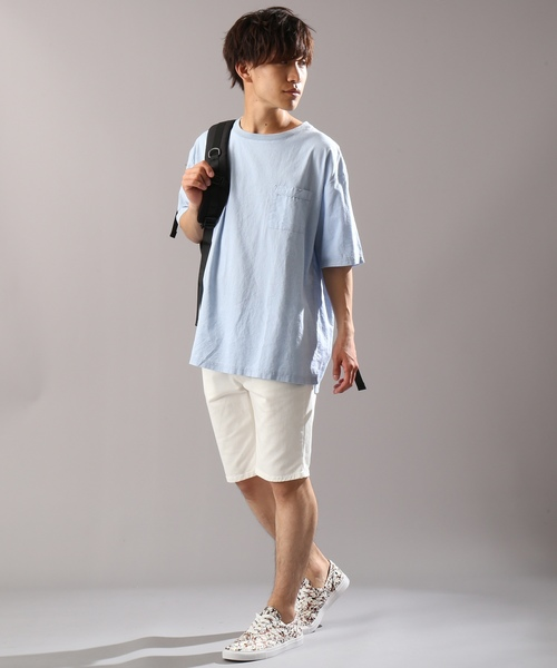 綿麻ストレッチTシャツ