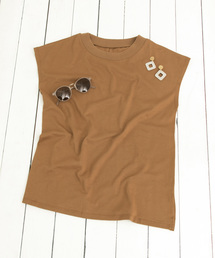 SENSE OF PLACE by URBAN RESEARCH(センス オブ プレイス バイ アーバンリサーチ)のオーガニックコットンフレンチスリーブTシャツ(Tシャツ/カットソー)